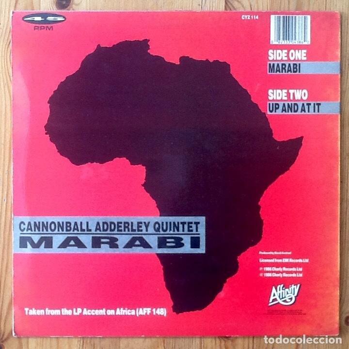 Discos de vinilo: CANNONBALL ADDERLEY : MARABI [UK 1986] 12 - Foto 2 - 183415591
