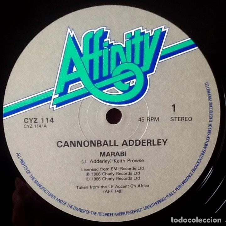 Discos de vinilo: CANNONBALL ADDERLEY : MARABI [UK 1986] 12 - Foto 3 - 183415591