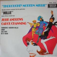 Discos de vinilo: JULIE ANDREWS BANDA SONORA DE LA PELÍCULA MILLIE EP SELLO DECCA EDITADO EN ESPAÑA AÑO 1967. Lote 183415815