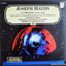Discos de vinilo: JOSEP HAYDN. LA CREACION. COROS Y ARIAS. LOS GRANDES COMPOSITORES DE SALVAT. 1982. Lote 183417251