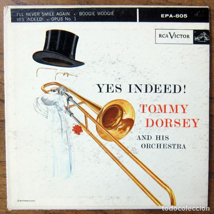 TOMMY DORSEY ORCHESTRA - I'LL NEVER SMILE AGAIN - BOOGIE WOOGIE / YES INDEED - OPUS NO.1 - 1956 (Música - Discos de Vinilo - EPs - Jazz, Jazz-Rock, Blues y R&B)