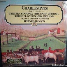 Discos de vinilo: CHARLES IVES. LOS GRANDES COMPOSITORES DE SALVAT. 1982. Lote 183419940