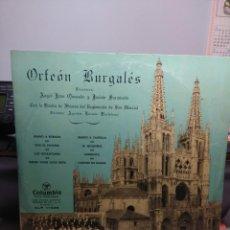 Discos de vinilo: LP 10 PULGADAS : ORFEON BURGALES ( HIMNO DE BURGOS, HIMNO A CASTILLA, CON EL PICOTIN, ETC. Lote 183422846