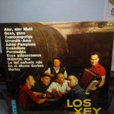 Discos de vinilo: LP LOS XEY ( ATOR ATOR MUTIL, ADIOS PAMPLONA, MAITETXU MIA, PORRUSALDA, ETC ). Lote 183424711