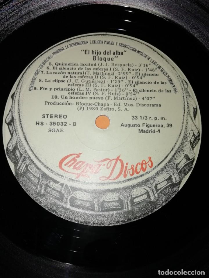 Discos de vinilo: BLOQUE - EL HIJO DEL ALBA . CHAPA - 1980 - Foto 7 - 183463412