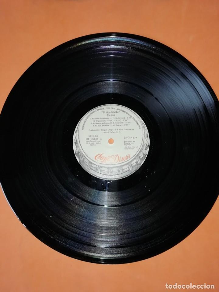 Discos de vinilo: BLOQUE - EL HIJO DEL ALBA . CHAPA - 1980 - Foto 8 - 183463412