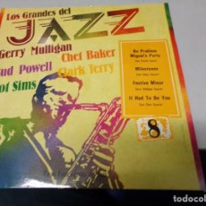 Discos de vinilo: LOS GRANDES DEL JAZZ NUMERO 8 GERRY MULLIGAN, BUD POWELL, ZOOT SIMS, CHRT BAKER, CLARK TERRY. Lote 183477840
