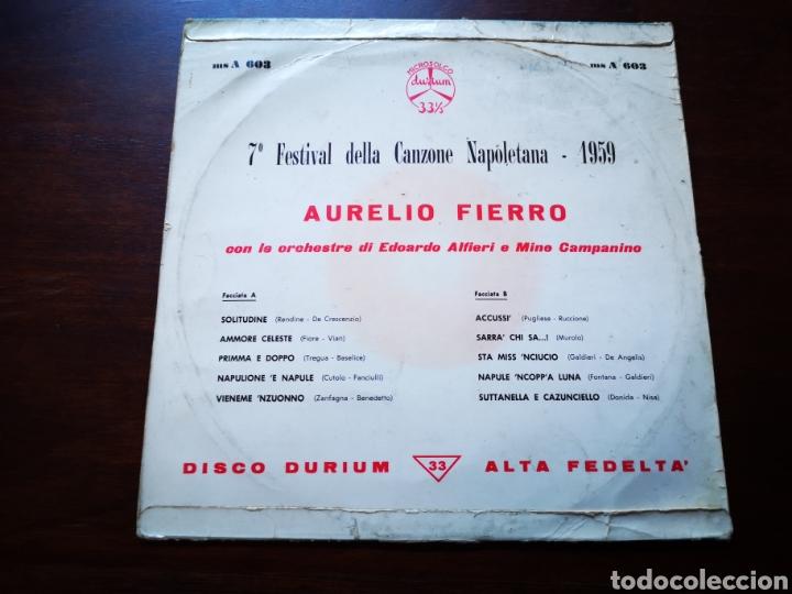 Discos de vinilo: Aurelio fierro. 7 festival Della can one napoletana 1959 - Foto 2 - 183479733