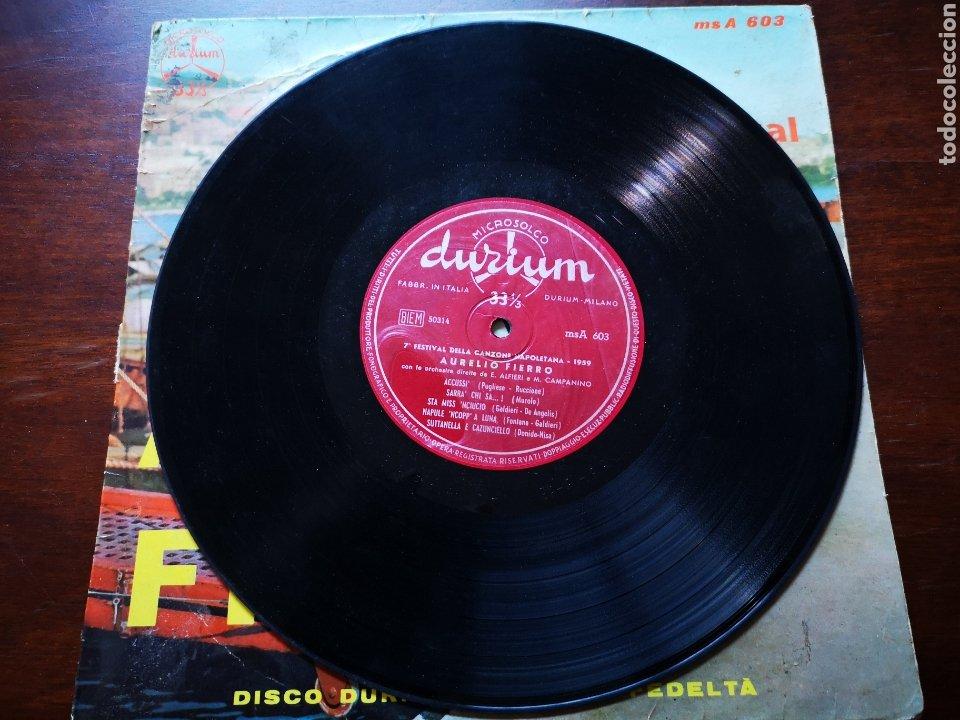 Discos de vinilo: Aurelio fierro. 7 festival Della can one napoletana 1959 - Foto 3 - 183479733
