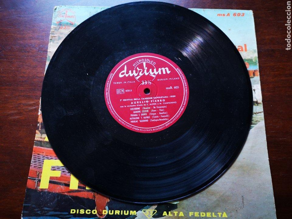 Discos de vinilo: Aurelio fierro. 7 festival Della can one napoletana 1959 - Foto 4 - 183479733