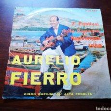 Discos de vinilo: AURELIO FIERRO. 7 FESTIVAL DELLA CAN ONE NAPOLETANA 1959. Lote 183479733