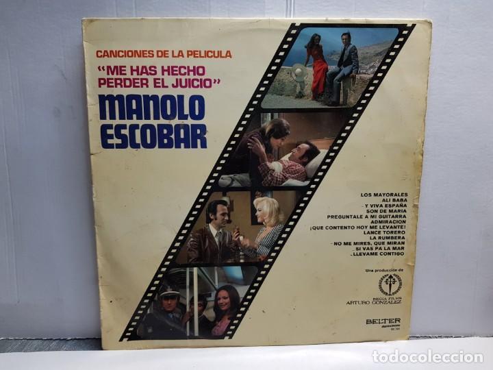 LP-MANOLO ESCOBAR-ME HAS HECHO PERDER EL JUICIO EN FUNDA ORIGINAL AÑO 1973 (Música - Discos - LP Vinilo - Solistas Españoles de los 70 a la actualidad)