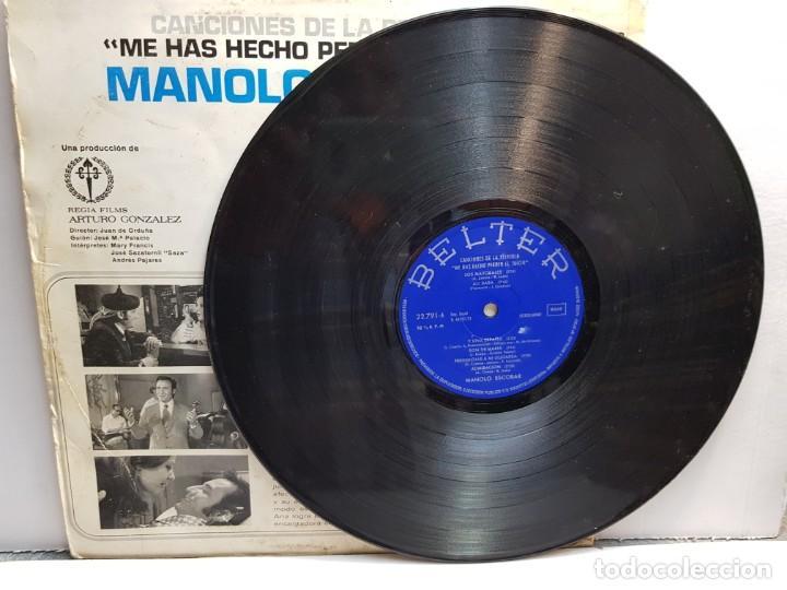 Discos de vinilo: LP-MANOLO ESCOBAR-ME HAS HECHO PERDER EL JUICIO en funda original año 1973 - Foto 3 - 183486087