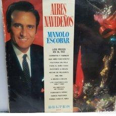 Discos de vinilo: LP-MANOLO ESCOBAR-AIRES NAVIDEÑOS EN FUNDA ORIGINAL AÑO 1970. Lote 183486238