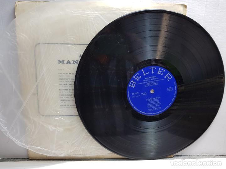 Discos de vinilo: LP-MANOLO ESCOBAR-AIRES NAVIDEÑOS en funda original año 1970 - Foto 3 - 183486238