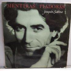 Discos de vinilo: LP-JOAQUIN SABINA-MENTIRAS PIADOSAS EN FUNDA ORIGINAL AÑO 1990. Lote 183486947