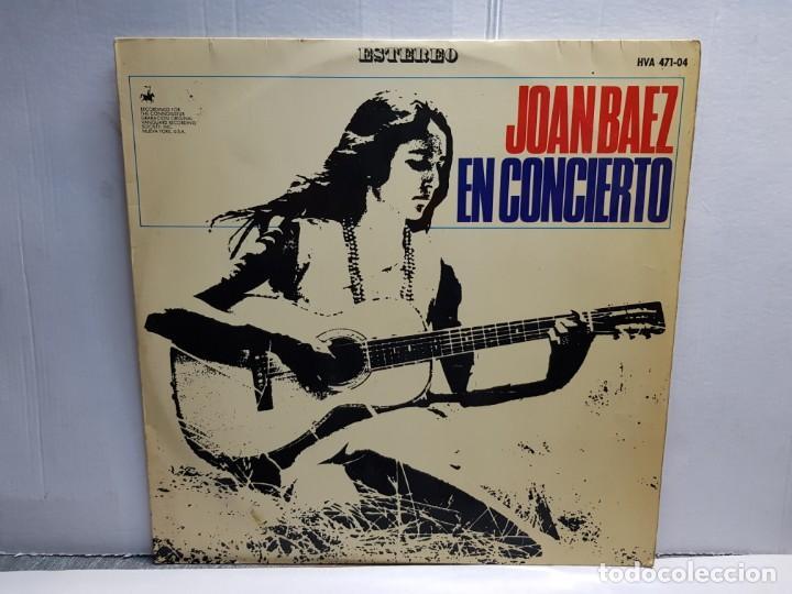 LP-JOAN BAEZ- EN CONCIERTO EN FUNDA ORIGINAL AÑO 1966 (Música - Discos - LP Vinilo - Solistas Españoles de los 70 a la actualidad)