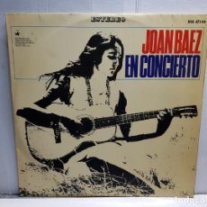 Discos de vinilo: LP-JOAN BAEZ- EN CONCIERTO EN FUNDA ORIGINAL AÑO 1966. Lote 183488566