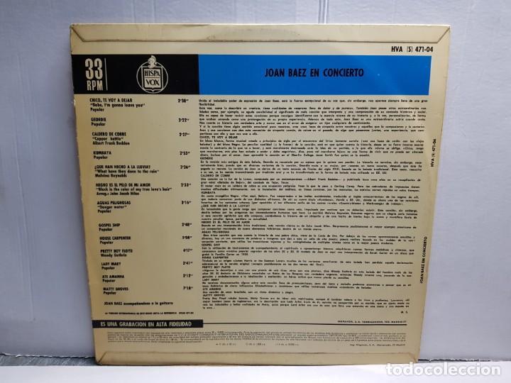 Discos de vinilo: LP-JOAN BAEZ- EN CONCIERTO en funda original año 1966 - Foto 2 - 183488566