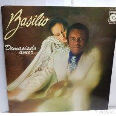 Discos de vinilo: LP-BASILIO- DEMASIADO AMOR EN FUNDA ORIGINAL AÑO 1977. Lote 183488812