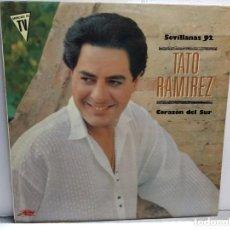 Discos de vinilo: LP-TATO RAMIREZ- SEVILLANAS 92 EN FUNDA ORIGINAL AÑO 1991. Lote 183491346