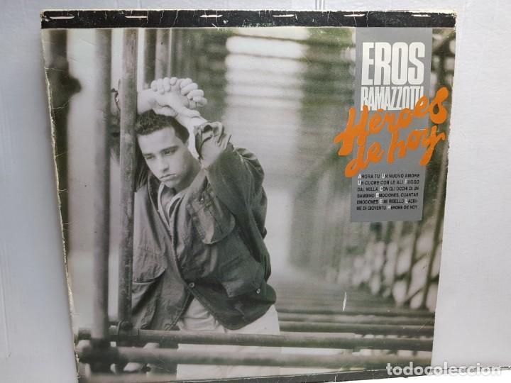 LP-EROS RAMAZZOTTI-HEROES DE HOY EN FUNDA ORIGINAL AÑO 1986 (Música - Discos - LP Vinilo - Canción Francesa e Italiana)