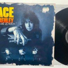 Discos de vinilo: DISCO LP VINILO ACE FREHLEY – TROUBLE WALKIN' EDICION EUROPEA DE 1989. Lote 183498690