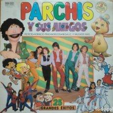 Discos de vinilo: 2 LP PARCHÍS Y SUS AMIGOS: 25 GRANDES ÉXITOS (1981) CONTIENE ENCARTES. VINILO COLOR AZUL BUEN ESTADO. Lote 183505351