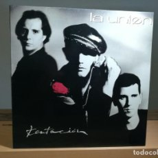 Discos de vinilo: LA UNION - TENTACIÓN LP VINILO 1990 ESPAÑA WEA VG+/VG+. Lote 183506876