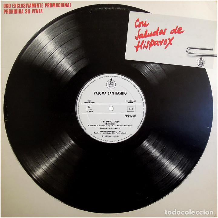 PALOMA SAN BASILIO - BAILANDO - MX PROMO SPAIN 1983 - HISPAVOX ?001 (Música - Discos de Vinilo - Maxi Singles - Solistas Españoles de los 70 a la actualidad)