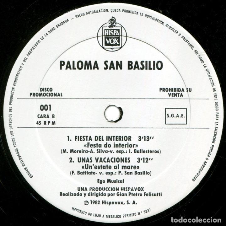 Discos de vinilo: Paloma San Basilio - Bailando - Mx Promo Spain 1983 - Hispavox ?001 - Foto 4 - 183512696
