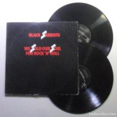 Discos de vinilo: LP DOBLE - BLACK SABBATH - WE SOLD OUR SOUL FOR ROCK'N'ROLL - NEMS/EDIGSA - 1981. Lote 183513518