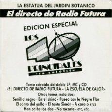 Discos de vinilo: RADIO FUTURA ?– LA ESTATUA DEL JARDIN BOTANICO - SG SIDED PROMO SPAIN 1989 - ARIOLA ?112326 . Lote 183513537