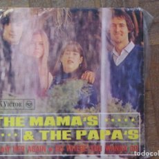 Discos de vinilo: THE MAMA'S & THE PAPA'S. I SAW HER AGAIN; GO WHERE YOU WANNA GO. RCA VICTOR, 3-10178. ESPAÑA, 1966.. Lote 183513835