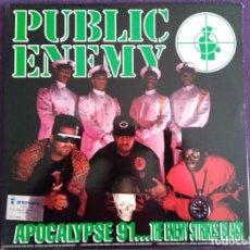 Discos de vinilo: PUBLIC ENEMY APOCALIPSE 91...THE ENEMY STRIKES BLACK. DOBLE LP SPAIN 91.. Lote 183515821