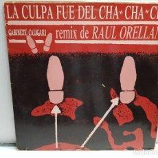 Discos de vinilo: MAXI SINGLE-GABINETE GALIGARI-LA CULPA FUE DEL CHA CHA CHA EN FUNDA ORIGINAL 1990. Lote 183518238