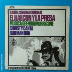 Disques de vinyle: ENNIO MORRICONE - 45 SPAIN PS - MINT * OST EL HALCON Y LA PRESA * 1967. Lote 183521958