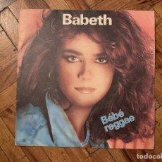 Dischi in vinile: BABETH ?– BÉBÉ REGGAE SELLO: MARCY MUSIC ?– 49867 FORMATO: VINYL, 7 , 45 RPM PAÍS: FRANCE. Lote 183524978