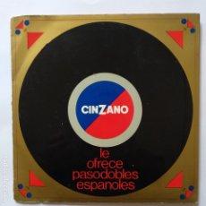 Discos de vinilo: DISCO PUBLICITARIO - DOBLE EP SPAIN PS - EX - EN LOS LABELS IMPRESO UN SALUDO DE CINZANO. Lote 183525446