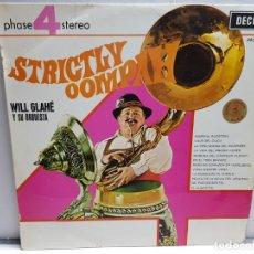 Discos de vinilo: LP-WILL GLAHÉ Y SU ORQUESTA-STRICTLY OOMPAH EN FUNDA ORIGINAL AÑO 1969. Lote 183546831