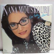 Discos de vinilo: DOBLE LP-NANA MOUSKOURI- CON TODA EL ALMA EN FUNDA ORIGINAL AÑO 1986. Lote 183548045