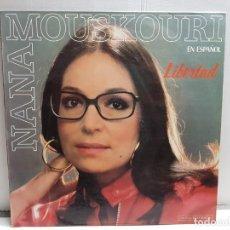 Discos de vinilo: LP-NANA MOUSKOURI- LIBERTAD EN FUNDA ORIGINAL AÑO 1986. Lote 183548310