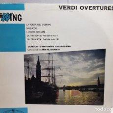 Discos de vinilo: LP-VERDI OVERTURES- EN FUNDA ORIGINAL AÑO 1958. Lote 183552377