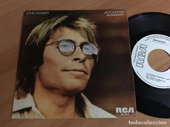 JOHN DENVER (AUTOGRAPH) SINGLE SPAIN PROMO 1980 (EPI04) (Música - Discos - Singles Vinilo - Country y Folk)