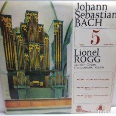 Discos de vinilo: LP-JOHAN SEBASTIAN BACH-ORGAN WORKS 5 EN FUNDA ORIGINAL . Lote 183553970
