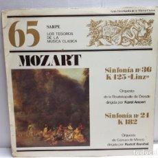Discos de vinilo: LP-MOZART-SINFONIA NÚMERO 36 Y 24 EN FUNDA ORIGINAL . Lote 183555003
