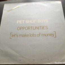 Discos de vinilo: PET SHOP BOYS - OPPORTUNITIES ( LEST MAKE LOTS OF MONEY) . Lote 183556477