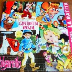 Discos de vinilo: LP - 1982 - CUENTOS INFANTILES - CAPERUCITA - PULGARCITO - LA RATITA ETC.. Lote 183558655