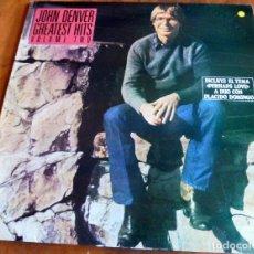 Discos de vinilo: LP - RCA 1982 - JOHN DENVER GREATEST HITS - VOLUME TWO. Lote 183559348