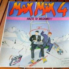 Discos de vinilo: LP - MAX MUSIC 1986 - MAX MIX 4 - HAZTE TU MEGAMIX - CAJA CON 2 LP'S. Lote 183560466